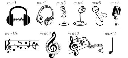 Muzyczne grawery namęskie zawieszki ibransoletki